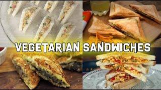 4 Easy Vegetarian Sandwiches | Sandwich recipes