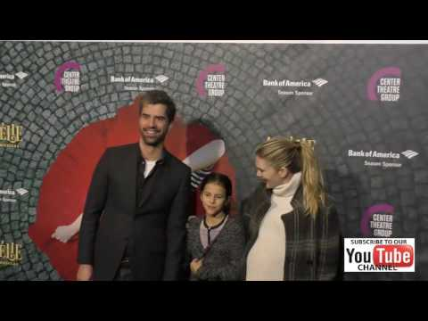 Hamish Linklater and Lily Rabe at the Amelie A New Musical  Night at Ahmanson Theatre in Los