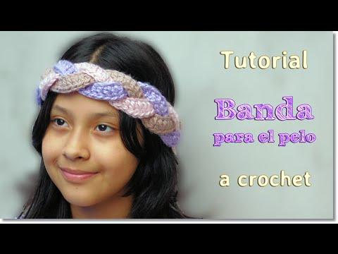 DIY Banda para el pelo a Crochet, Paso a Paso. - YouTube