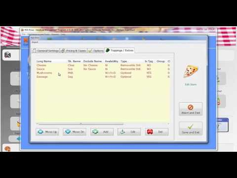 POS PIZZA: How to create a menu Part 5 - YouTube