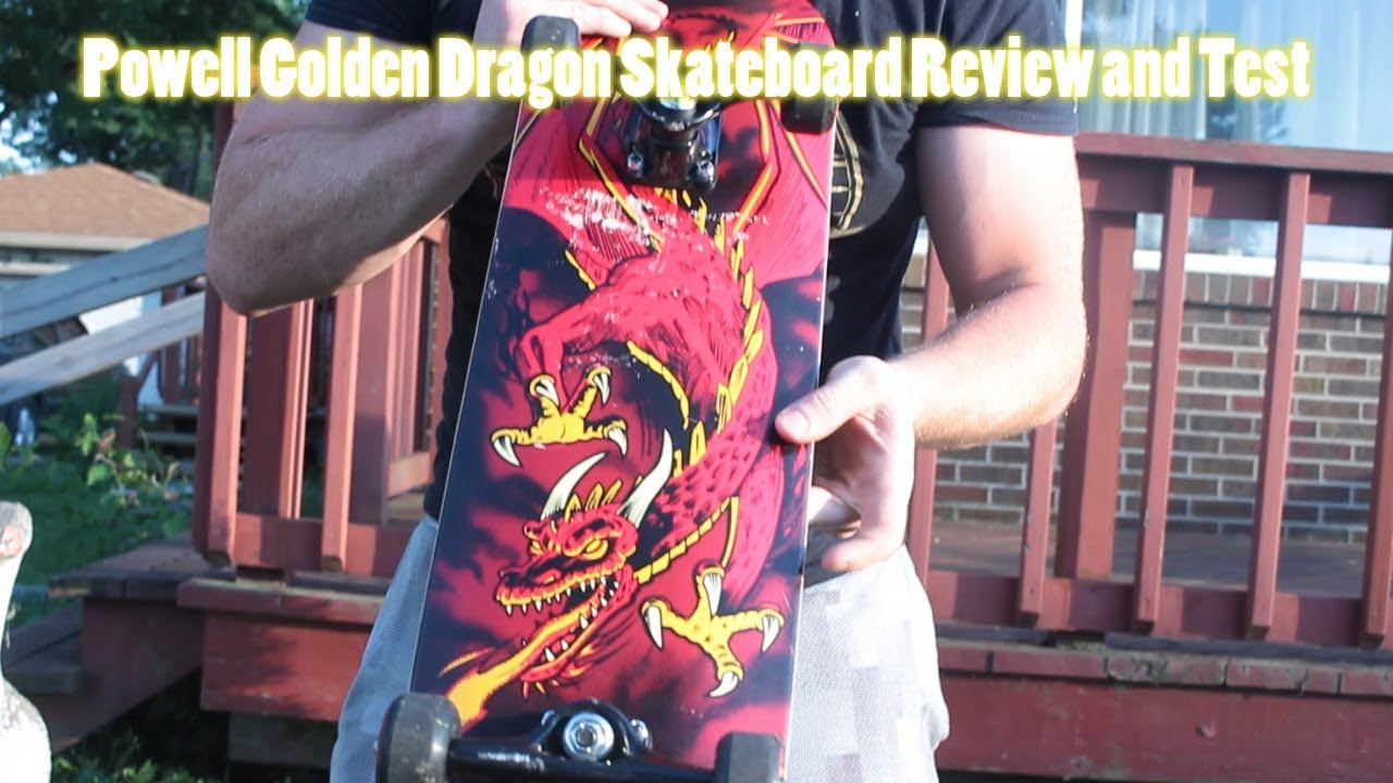 Powell Golden Dragon Skateboard Review and Test - YouTube 8a561f23420