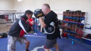 DONT HIT ME SO HARD YOU F**KI%£* PR***' BIG PUNCHER ARTHUR HERMANN UNLEASHES W/ TRAINER ALEC WILKEY