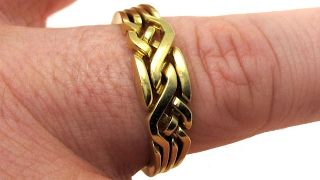 Holistic Ring - a brass puzzle ring