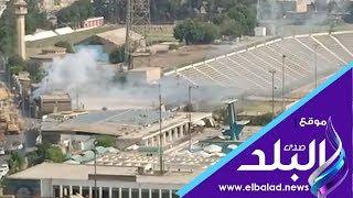 السيطرة على حريق داخل كابينة كهرباء بجوار سور نادى السكة.. فيديو وصور
