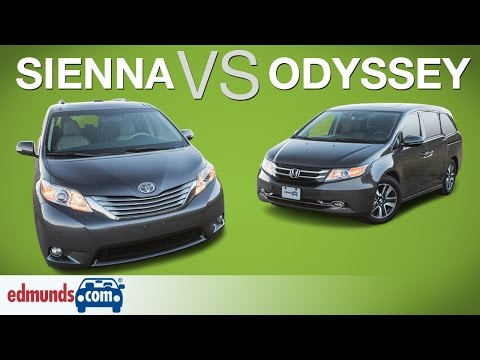 Honda Odyssey vs Toyota Sienna - Edmunds A-Rated Minivans Face Off - Edmunds.com  - UPYLQ1e0bzU -