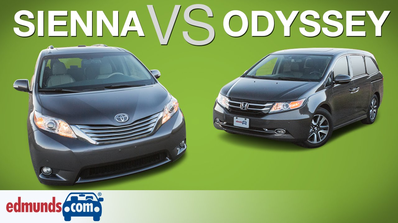 Honda Odyssey Vs Toyota Sienna | Edmunds A Rated Minivans Face Off   YouTube