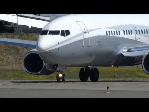Fancy Boeing Executive Flight Operations 737-7 N834BA CLEAN CLOSEUP