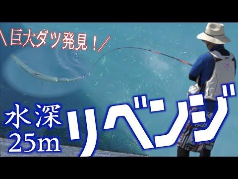 水深25mの漁港で怪物を釣り上げるリベンジ!前半 【魚図鑑を埋めろ5話】