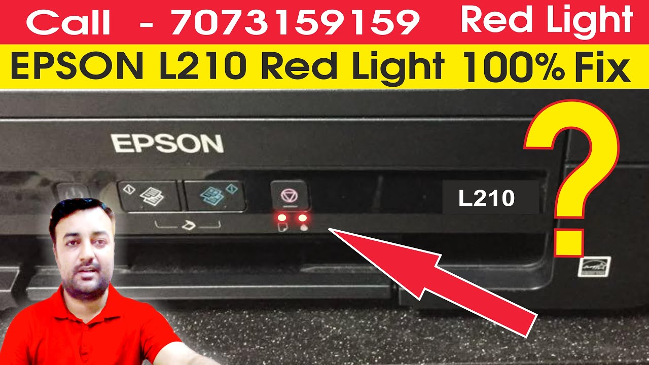 Epson L210 L220 L360 L380 L800 Service Required Solution Reset Red Light  Blinking Solution in Hindi