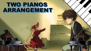 [2 Pianos Cover] Rozen Maiden (2013) OP - Watashi no Bara wo Haminasai (ローゼンメイデン - 私の薔薇を喰みなさい)