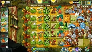 Plants vs Zombies 2 - IG Plays: Temple of Bloom Level 59 to Level 61