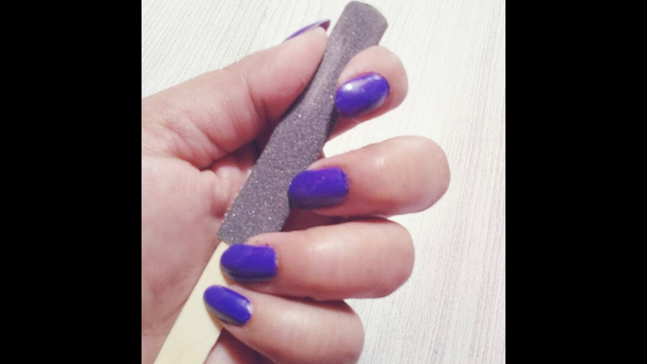 Homemade nail File - YouTube