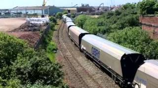 Trains out of Liverpool docks