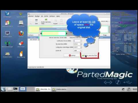 Partition your harddisk with Hirens boot CD