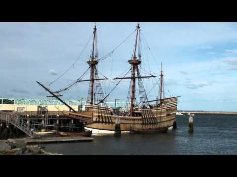 The Mayflower II ship in the Plymouth Harbor