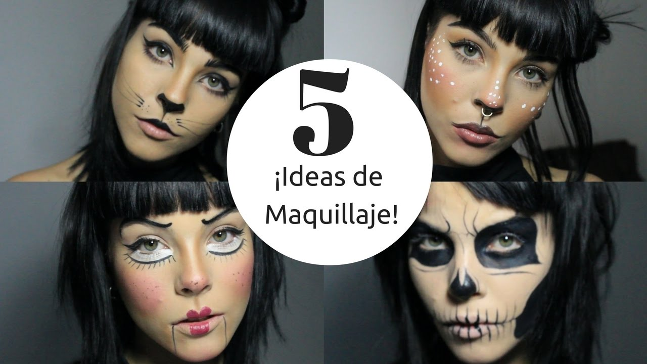 5 maquillajes f ciles para halloween 5 easy makeup ideas - Maquillage para halloween ...