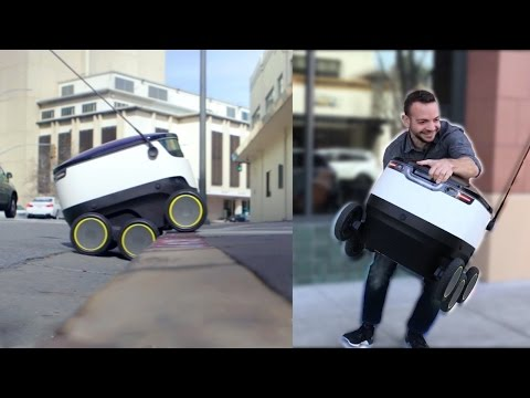 Thumbnail: We Tried To Steal Food From A Delivery Robot