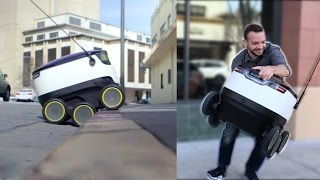We Tried To Steal Food From A Delivery Robot thumbnail