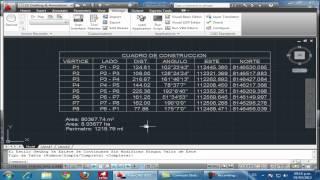 Dibujar Rapido Cuadro de datos tecnicos o Cuadro de Construcción de coordenadas de poligono