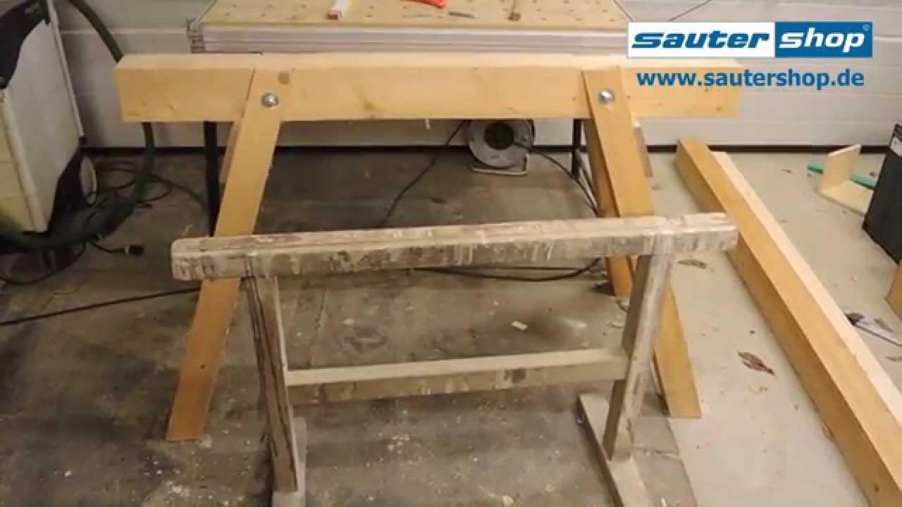 stabiler Holzbock Zimmererbock Arbeitsbock Bock mit