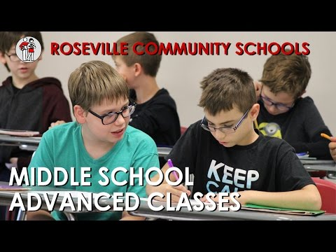 Roseville Community Schools - Middle School Advanced Classes