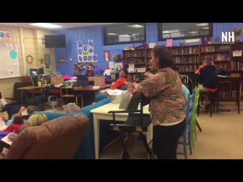 """Classrooms at Merritt Brown Middle School are adopting """"flexible seating"""" in their classrooms"""