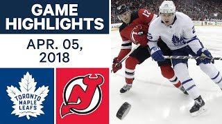 NHL Game Highlights | Maple Leafs vs. Devils - Apr. 05, 2018