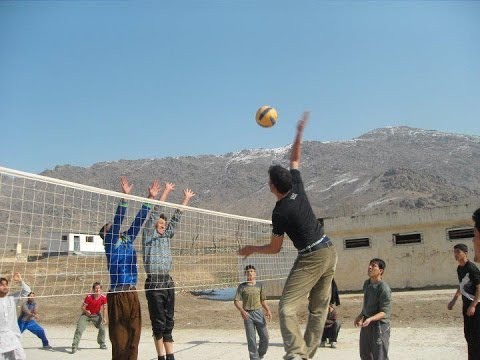 Volleyball Match, Engineering and Economics, Kabul University 2005.2