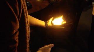 fire card change magic trick