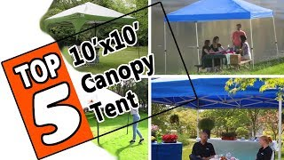 🌻 The Best 10x10 Canopy Tent 2019 - 5 Top Rated Small Canopy Shelter Tents On The Market Today