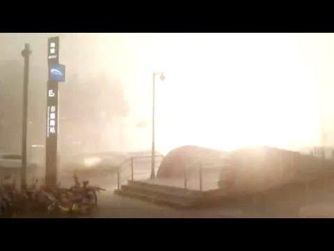 Severe Thunderstorms with Lightning Strike Panda's Hometown Chengdu.