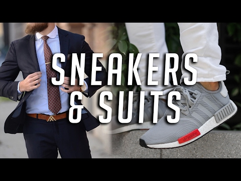 How to Wear Sneakers With Suits || Men's Fashion || Gent's Lounge