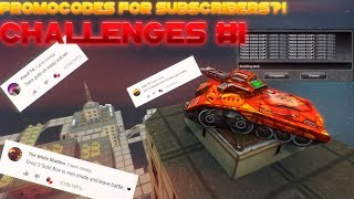 Tanki Online - Promocodes For Subscribers?! Challenges Video №1!