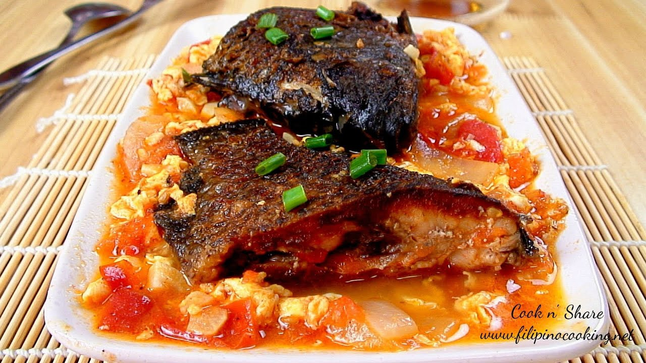 Stewed fish with tomatoes and egg youtube for How to make fish stew