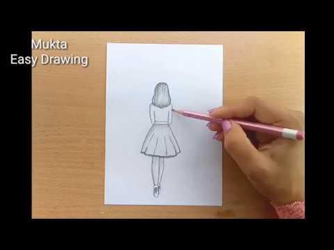 كيفية رسم فتاة مع رسم قلم رصاص مظلة خطوة بخطوة Youtube