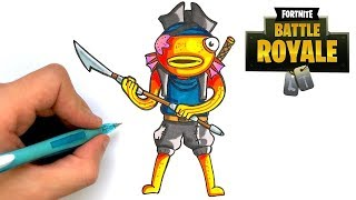 HOW TO DRAW PEZ PIRATA SKIN FORTNITE S8