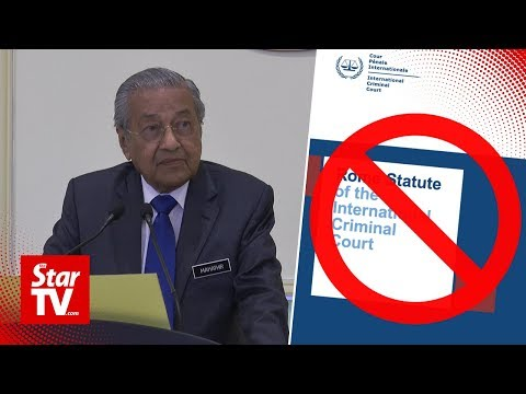 Malaysia witraws from the Rome Statute