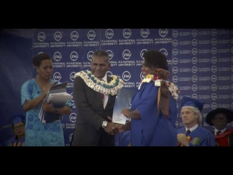Fijian Minister for Industry  officiates as chief guest at the FNU Graduation