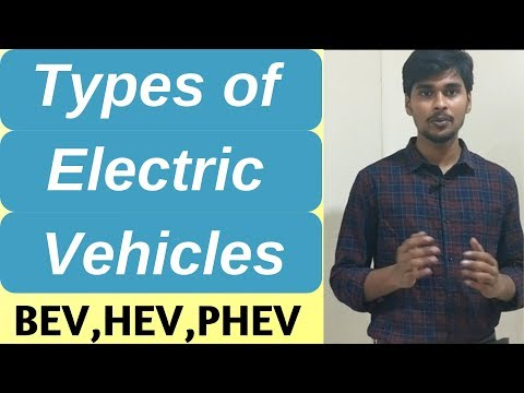 Types of electric vehicles and their working | BEV, HEV, PHEV
