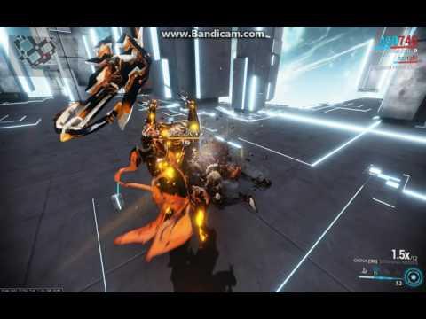Warframe Okina vs Level 145 Corrupted Gunner Bombard vs Galatine Prime