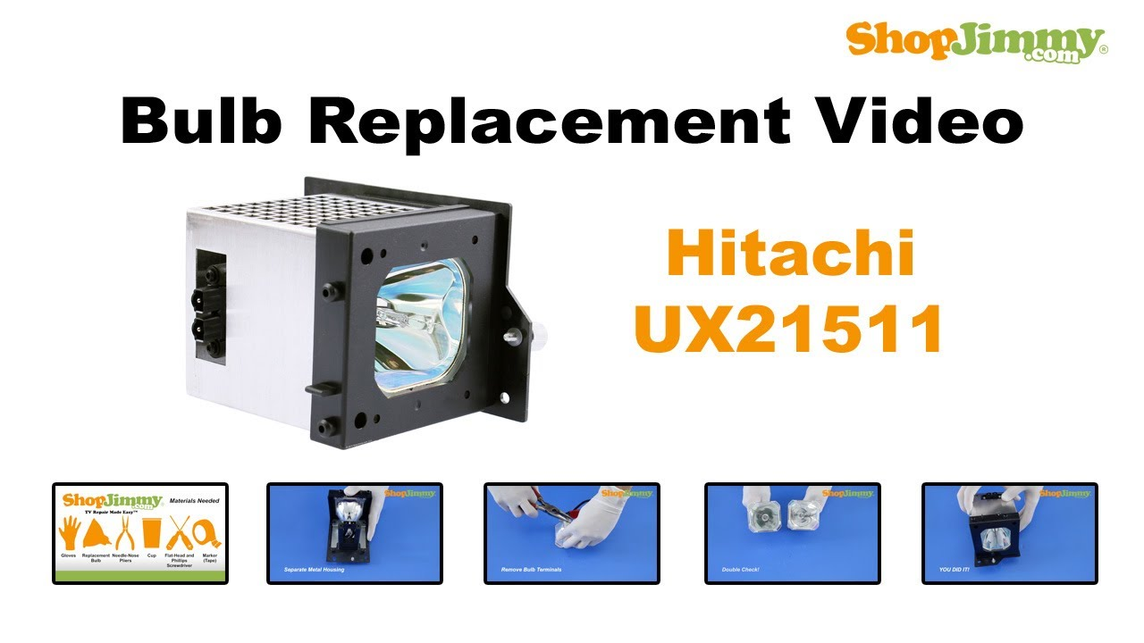 HITACHI 60V500A TV Replacement Lamp with Housing