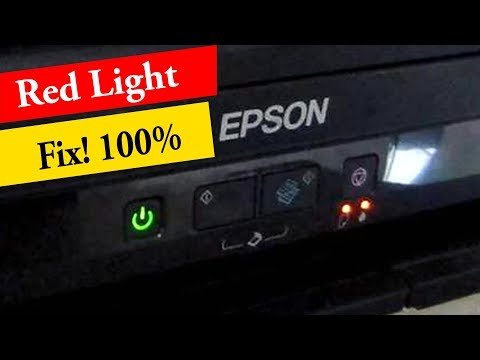 Two Method To Fix Epson Red Light Blinking L220, L360, L800 All Model