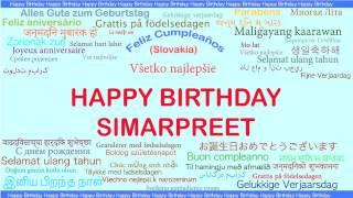 Simarpreet   Languages Idiomas - Happy Birthday