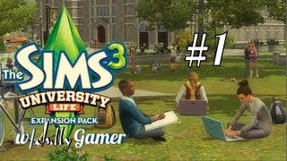 The Sims 3 : University Life - (Part 1) - Moving Into the Dorm!