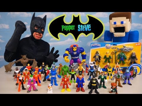 BATMAN Imaginext Fisher-Price Action Figures SUPER HERO UNBOXING!