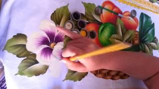 Pintando uma flor do campo