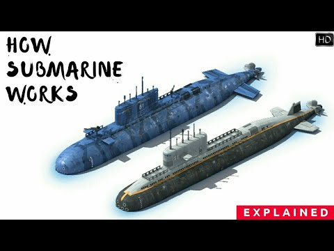 How Submarine Works? How Do Submarines Get Oxygen? How Submarine See In Water? Explained (Hindi)