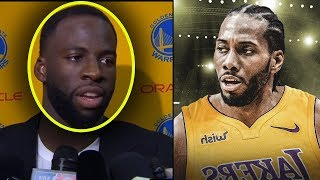 "Draymond Green Tells Kevin Durant ""I KNEW YOU WERE A SNAKE!"" & KAWHI LEONARD TO LAKERS!!"