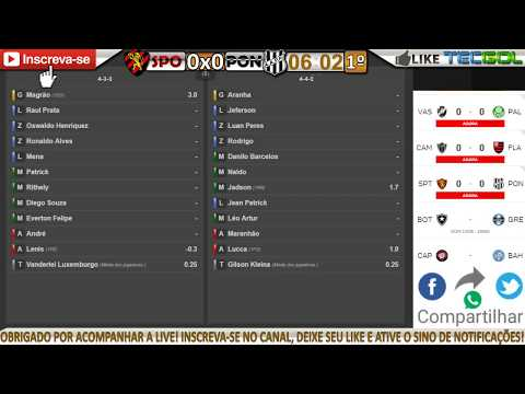 SPORT 0x0 PONTE PRETA – NARRAÇÃO COMPLETA COM PARCIAIS DO CARTOLA FC!