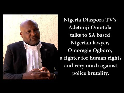 NDTV - Adetunji Omotola interviews Omoregie Ogboro, Nigerian Attorney in South Africa.